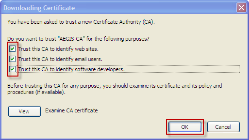 Instructions on importing your certificate into browser